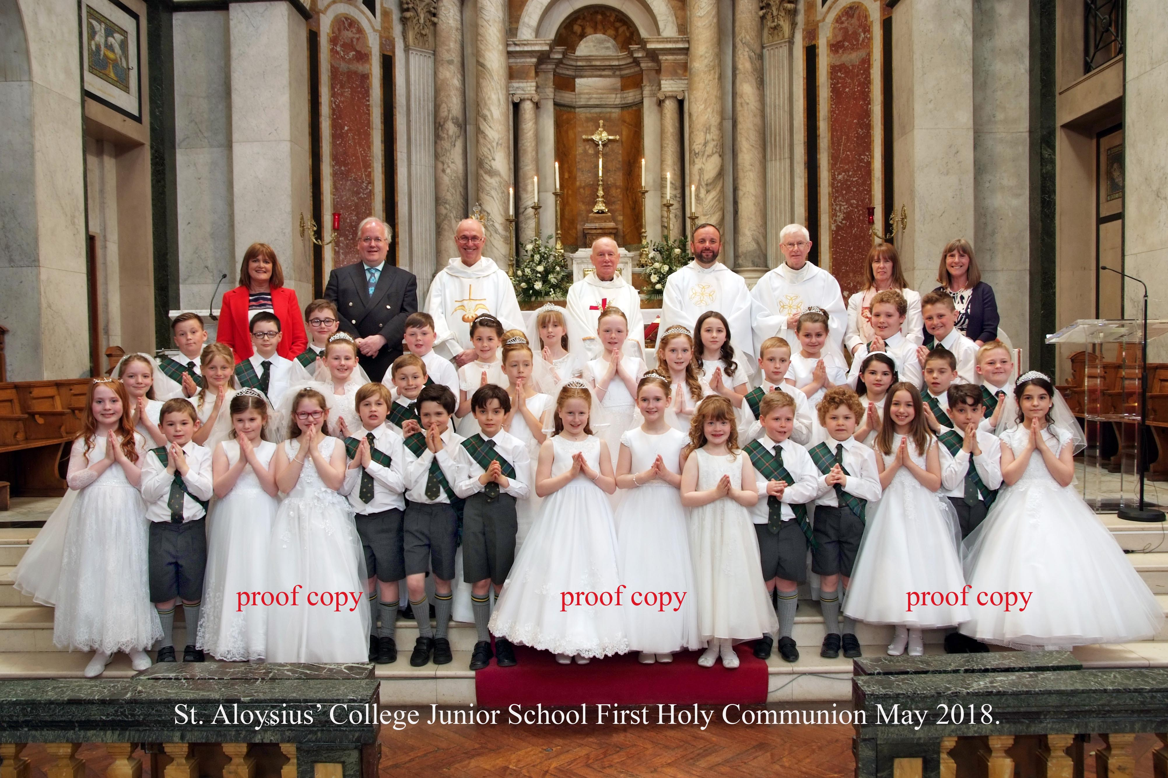 First Holy Communion Photo Proof 2018
