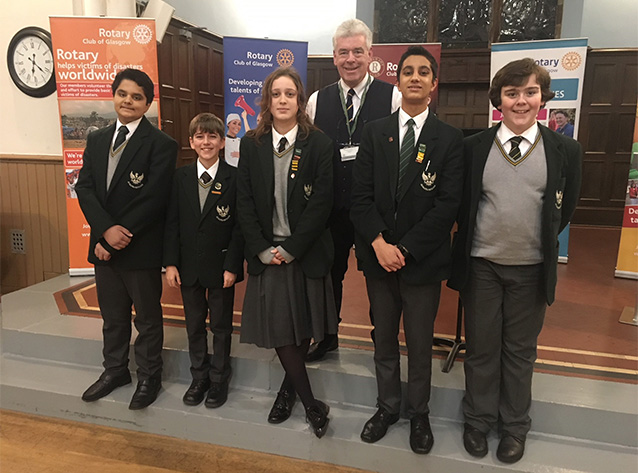 2018 Glasgow Rotary's Annual Schools Public Speaking Tournament