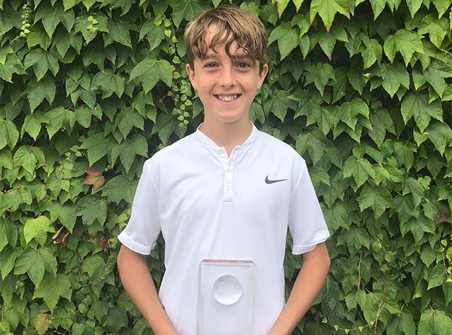 Joseph Logan wins County Boys' Singles at Wimbledon