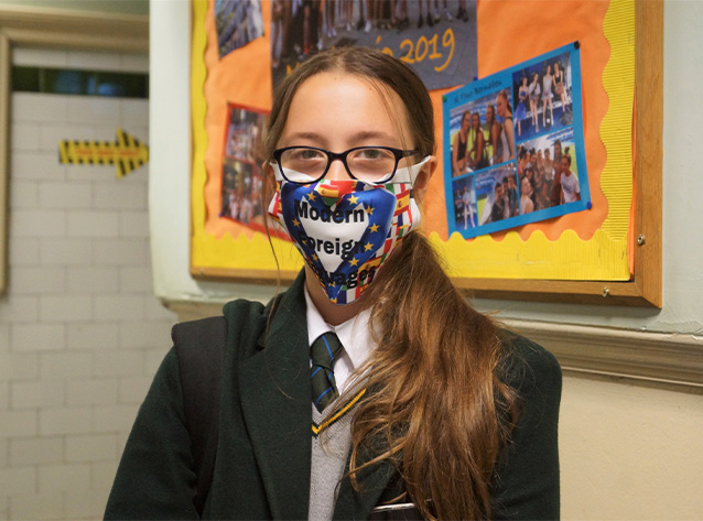 Design a languages themed mask competition