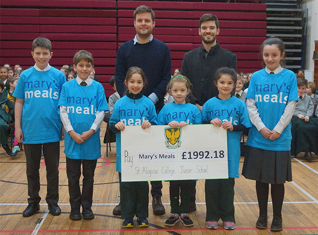 Junior School pupils raise £1992.18 for Mary's meals